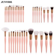 Pink Gold Makeup Brushes Set Pincel Maquiagem Powder Eye Shadow Eyeliner Lip Kabuki Fan Brush Complete Kit Cosmetics Beauty Tool