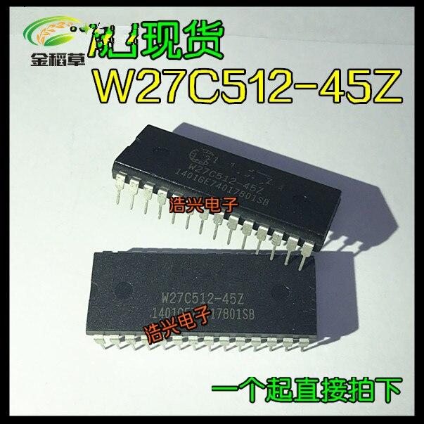 Frete grátis 50 unidades/lotes W27C512-45Z w27c512 dip-28 novo ic original em estoque!