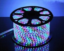 25 meter SMD 5050 AC220V RGB LED Strip Flexible Light 60 led/m Waterproof Led Tape LED Light With Power Plug