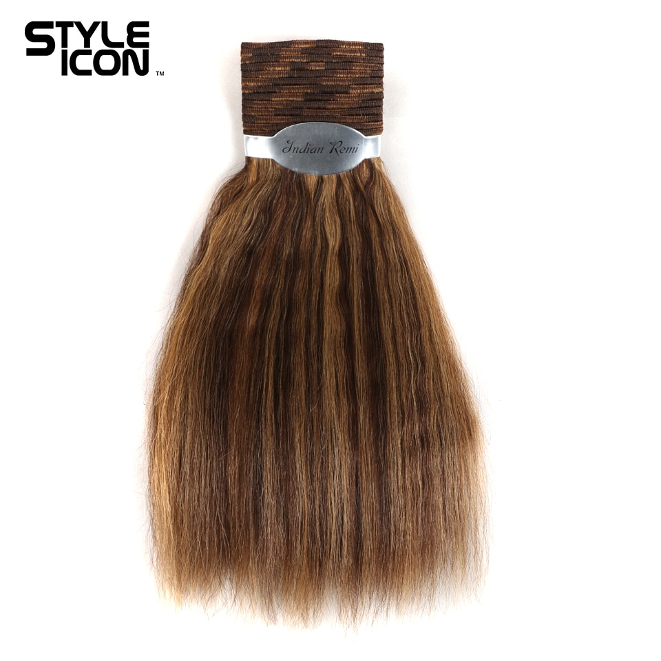 Styleicon molhado e ondulado pacotes de cabelo humano indiano remy tecer cabelo 1 peça negócio extensões de cabelo piano cor 4/27 30 33 99j cabelo