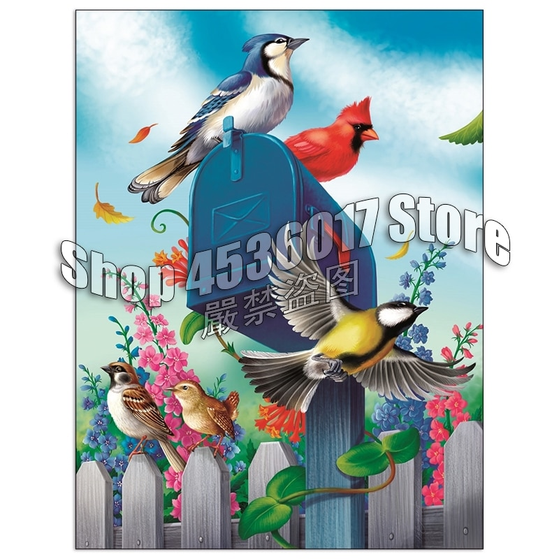 Полная Алмазная вышивка, садоводство птиц, почтовый ящик Guardian,5D, алмазная живопись, вышивка крестом, Алмазная мозаика, украшение, рукоделие