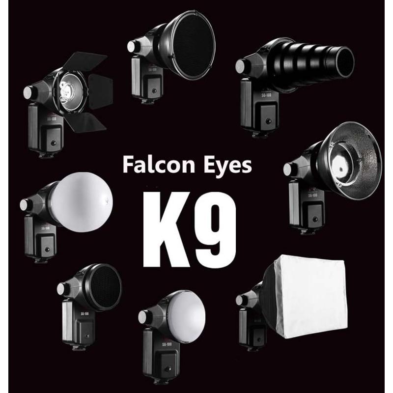 FALCONEYES Speedlite الملحقات كيت SGA-K9 لنيكون SB 910 900 800 700 600 كانون 580EX II 430EX II 600EX-RT