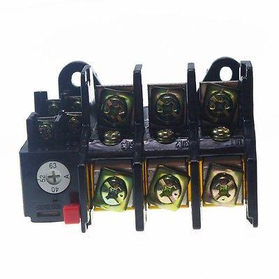 22-63A corriente Rating63A 1 NO + 1 NC 3 polos relé de sobrecarga térmica 600V