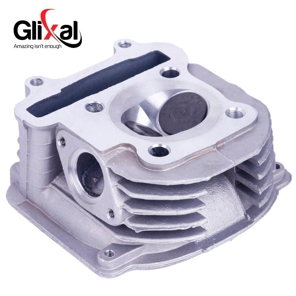 Glixal GY6 150cc Motor de Scooter chino 57,4mm cabeza cilíndrica Assy con válvulas para 4 T 157QMJ ATV Go- kart Buggy moto Quad