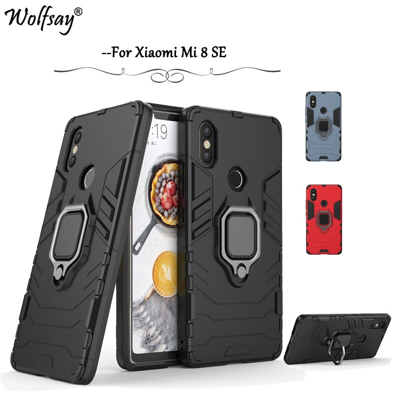 For Xiaomi Mi 8 SE Case Shockproof Armor Silicone Cover Hard PC Phone Case For Xiaomi Mi 8 SE Protec