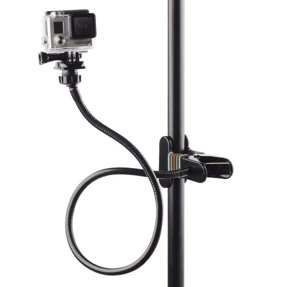 Soporte de brazo Flexible de mordazas Ajustable + extensión de cuello de cisne Flexible para GoPro 8 7 6 5 4 SJCAM SJ4000 Xiaomi YI 4K II, accesorios