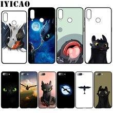 IYICAO édenté Comment dresser Votre Dragon Doux étui pour huawei Y7 Y6 Premier Y9 2018 Honneur 8C 8X8 9 10 Lite 6A 7C 7X 7A Pro