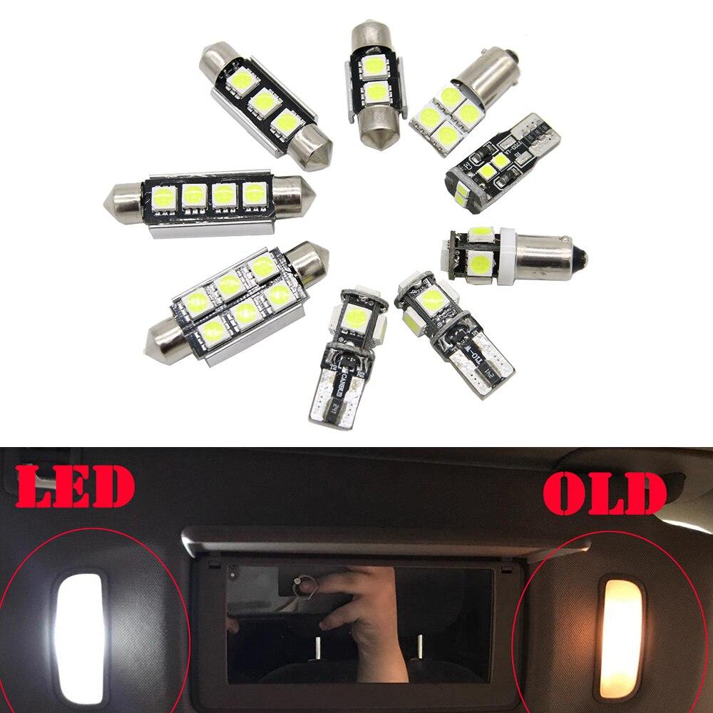 Luz LED de coche para Audi A6, S6, RS6, C5, C6, C7, Sedan Avant 97-16, Kit de luz Interior para automóvil Canbus, bombillas de luz de lectura Domo 27 Uds.