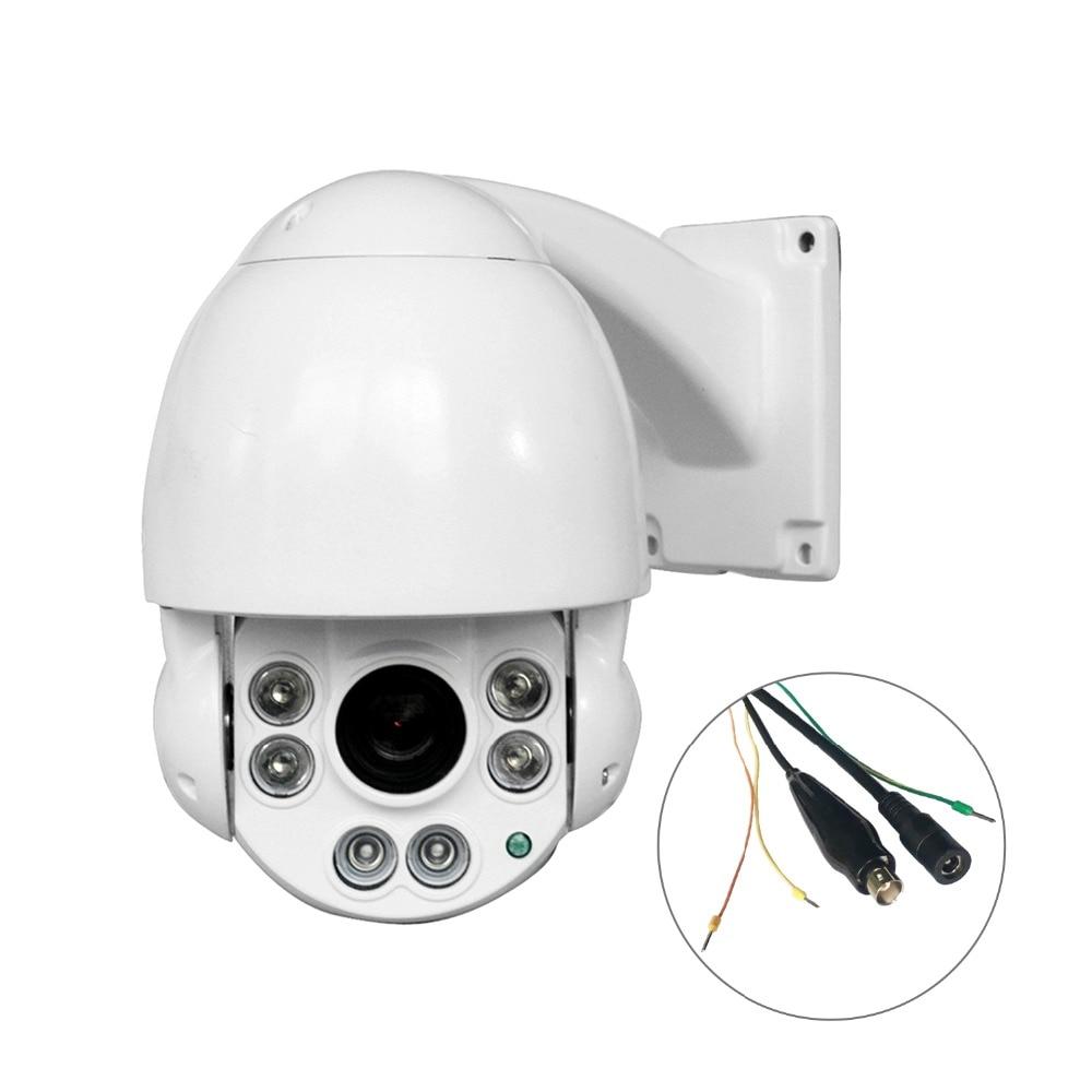 Cámara de seguridad PTZ 4,5 de 1080P pulgadas 4in1 10x Zoom IR al aire libre domo de velocidad media entre AHD/CVI/TVI/CVBS Cámara
