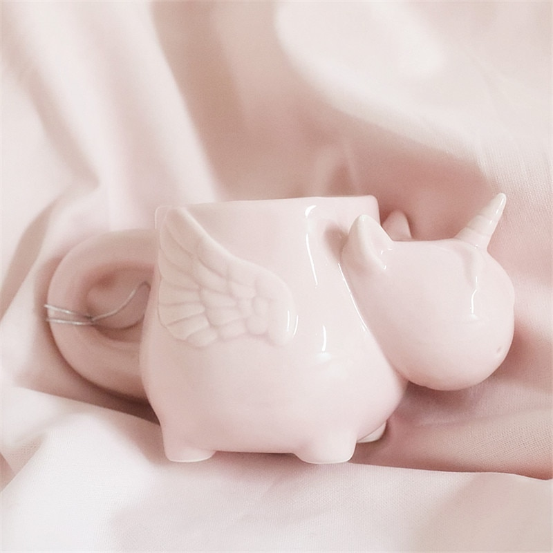 600ml 3D Unicorn Mugs Lovely Cat Dog Children Milk Mugs Home Decoration Adult Drink Cup Ceramic Mug