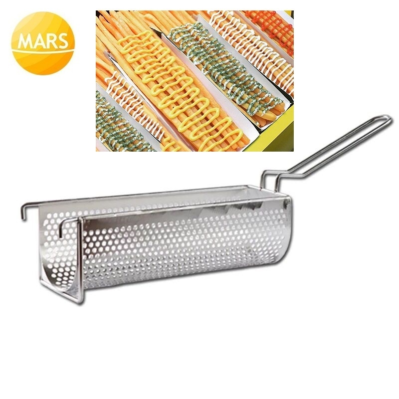 30cm Long French Fries Basket Frying Strainer Stainless Steel Potato Chips Fryer Kitchen Cooking Chef Colander Tool