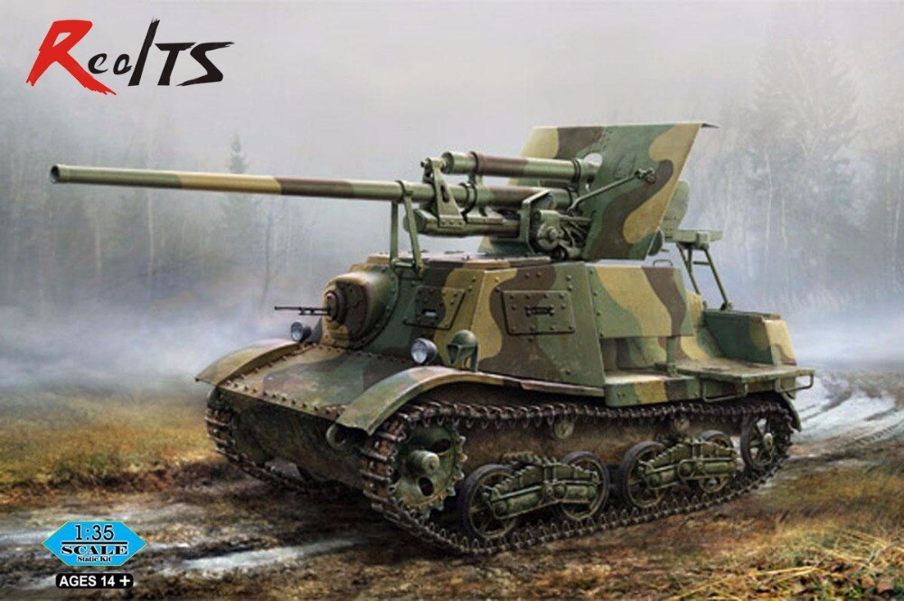RealTS Hobby Boss #83849 1/35 Soviética ZIS-30 Luz Auto-Propulsão Arma Anti-Tanque hobbyboss