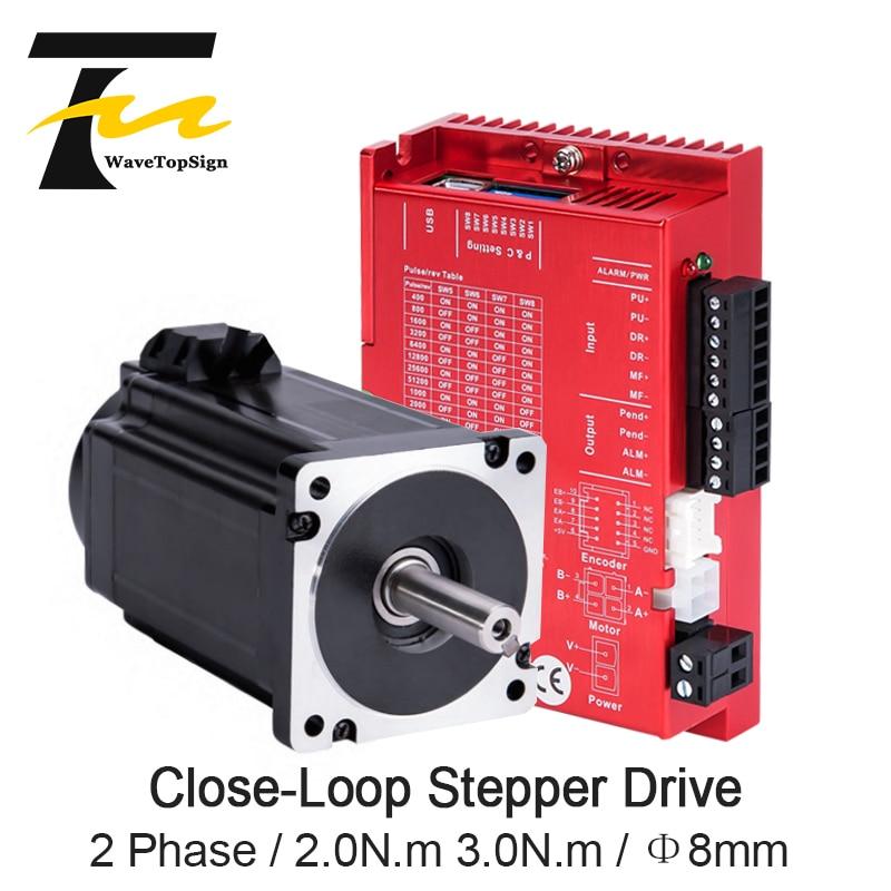 ياقو NAMA24 مصد حلقي مغلق المحرك 2 المرحلة 3N.m YK260EC86E1-KZ01 + SSD2505M-C231 سائق DC24-50V