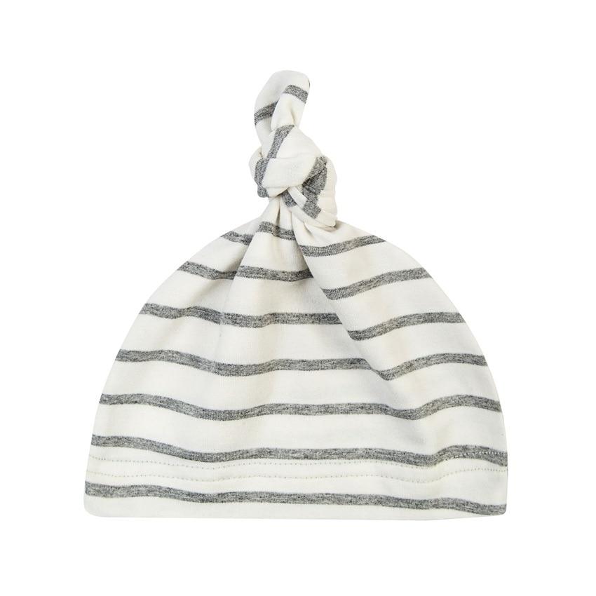 Хлопковая шапка для новорожденных с заячьими ушками, детская шапочка для мальчиков и девочек, однотонная полосатая шапочка для новорожденн...