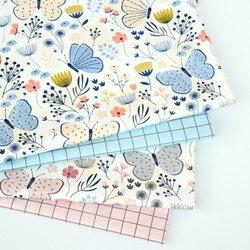 100% algodão sarja tecido para costura estofados, algodão patchwork vestido quilting fazendo pano