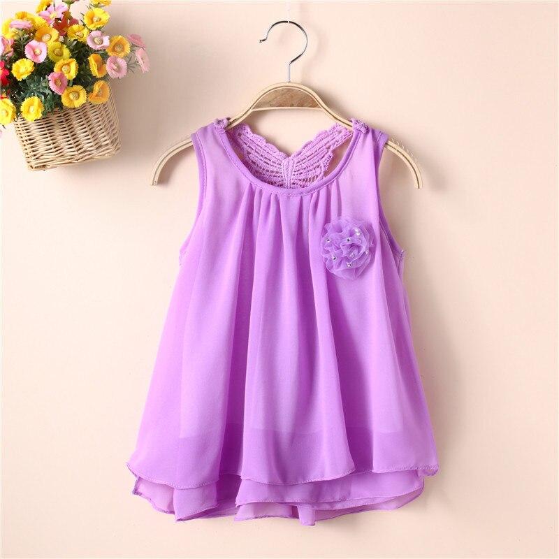 Summer baby dress sweet lace vest dress children's princess banquet dress 0-4 years old beach clothes children five colors