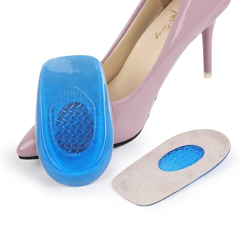 1 par de plantillas de silicona para manicura, plantillas de tacón alto, almohadilla protectora de apoyo, cojín para el cuidado de los pies, almohadilla ortopédica para pedicura