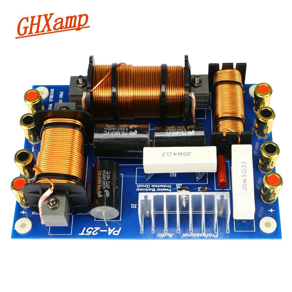 Ghxamp 1000W المزدوج مكبر الصوت + التريبل رئيس كروس 2200Hz 2 طريقة كروس ل 12