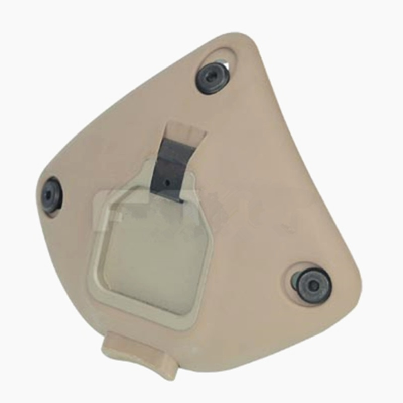 Plataforma de montaje negra NVG de perfil bajo de 3 orificios estilo aluminio medio MICH TATM casco
