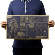Demir Adam Çizimleri Tasarım Duvar Sticker Kraft Kağıt Hollywood Film Posteri Yatak Odası Çıkartmaları Duvar Kağıdı Süsleme Resim Dekorasyon