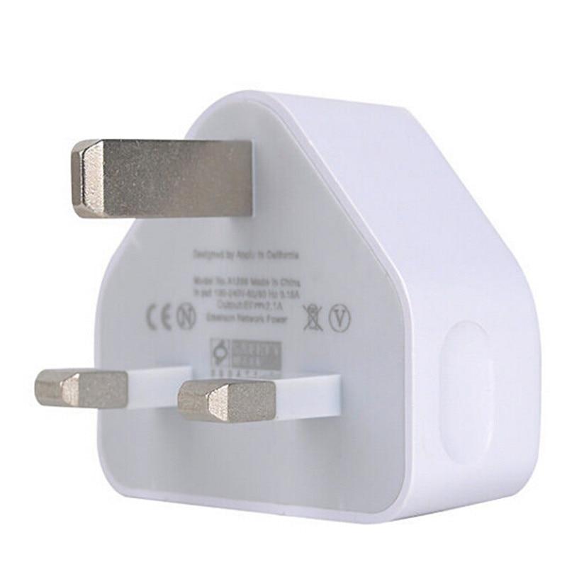 2.1A rápido Dual Twin 2 puertos USB cargador UK enchufe adaptador de enchufe de pared 3 pines