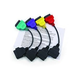Image 5 - Для Fiat ECU 6/4/3 шт. кабели для FIAT ECU Scan & Multiecuscan Adapter OBD2 коннектор диагностический адаптер кабель Бесплатная доставка