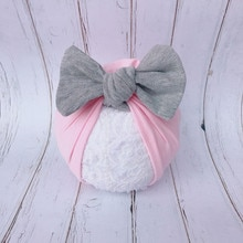 Cute Newborn Toddler Kids Baby Boys Girls Turban Hat Winter Warm Fashion New Solid Bow Cotton Beanie Cap Baby Casual Cotton Hats