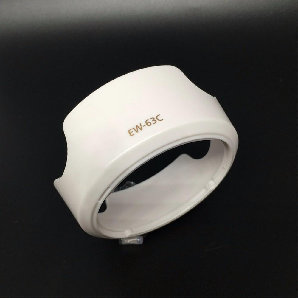 Cubierta de lente blanca EW-63C EW63C para EF-S 18-55mm f/3,5-5,6 IS STM 58mm
