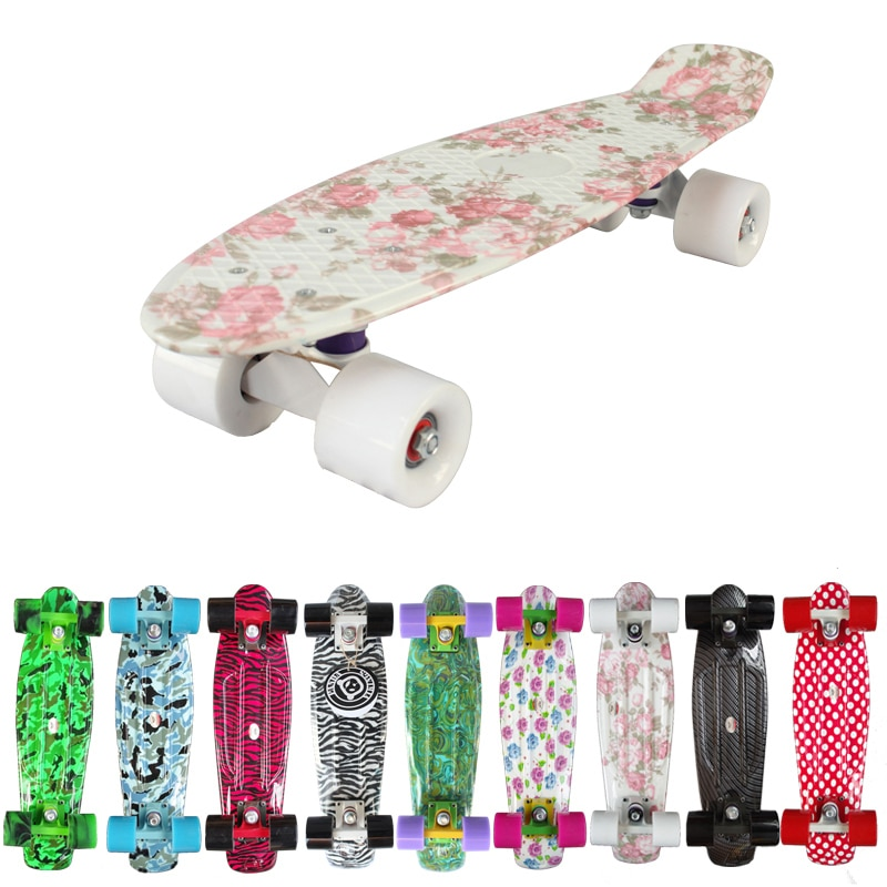 "New 2019 Custom Peny Skateboard Graphic series 22"" Retro Mini Skate Fish Long Board cruiser longboard complete skates patins"