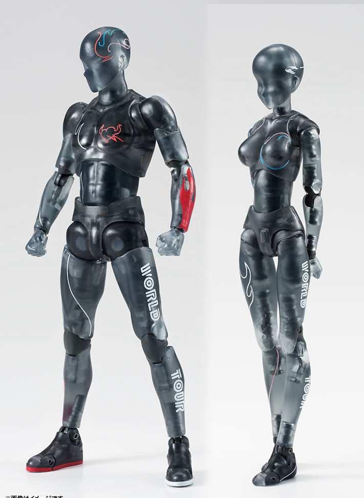 Body Kun SHF Figuarts Archetype He SHE Crystle Black Ver Action Figure Skin Color DIY Figure Bodykun Action Figure Model