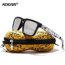 KDEAM lunettes de soleil polarisées noir mat   Accroche les yeux avec fonction de fixation, monture pour hommes Lunettes de soleil avec étui jeu Cool   Lunettes de peinture Temples