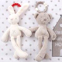 Детская коляска, кролик, медведь, мягкая плюшевая Детская кукла, детская коляска, животное, подвесное кольцо, детская погремушка, игрушки дл...