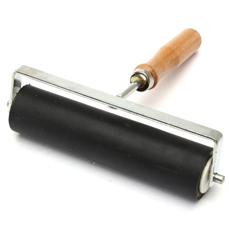 1 unidad de rodillo de goma dura resistente de 15 cm, tinta de impresión de Lino, herramientas de decoración de pintura artística para artistas, juegos de herramientas para pintar