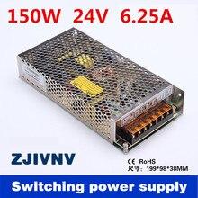 ZJIVNV alimentation de commutation SMPS   150W à sortie unique 24V 6,5a SMPS pour amplificateur/led pilote en fonte ac dc 24v ()