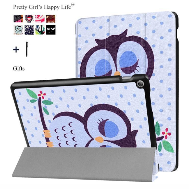 Чехол для планшета ASUS Zenpad 10 Z301MFL, тонкий кожаный чехол-книжка с принтом и подставкой для ASUS Zenpad 10 Z300C/M/L, Fundas + стилус