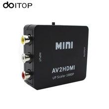 DOITOP Composite RCA AV HDMI CVBS vers HDMI convertisseur prise en charge HD 720P 1080P AV vers HDMI Mini AV2 HDMI convertisseur vidéo