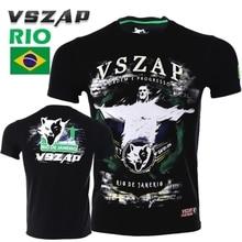 VSZAP  Boxing MMA T Shirt Gym Tee Fighting Martial Arts Fitness Training Muay Thai Men