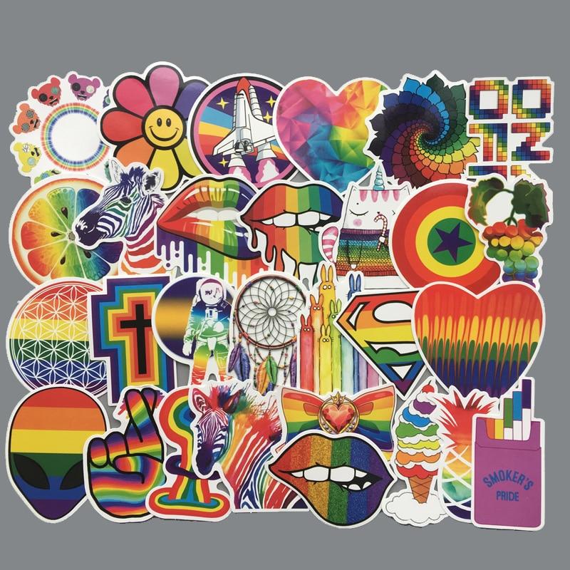60 шт./компл. радужные сексуальные наклейки s для геев ЛГБТ Флаг Гей гордыня Декор Наклейка на ноутбук автомобиль телефон багаж ПВХ водонепроницаемые игрушки подарок