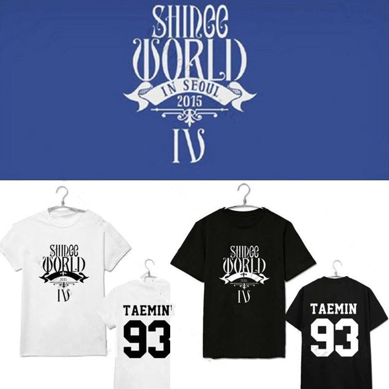 Mainlead camiseta Kpop Shinee Harajuku camiseta Casual mundo Iv en Seúl Taemin. Tee Top hombres mujeres Unisex