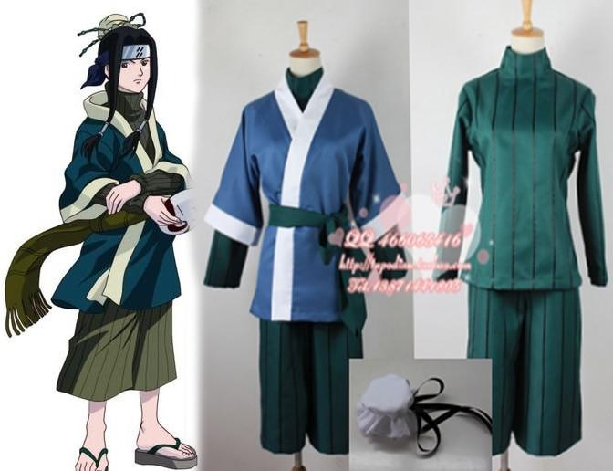 Japonya Anime Naruto Haku Cosplay kostüm için parti