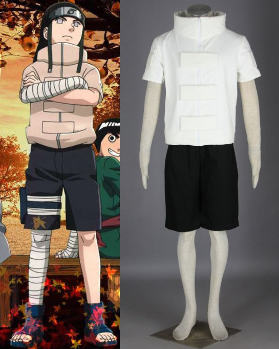 NARUTO Hyuuga Neji del traje de cosplay de halloween