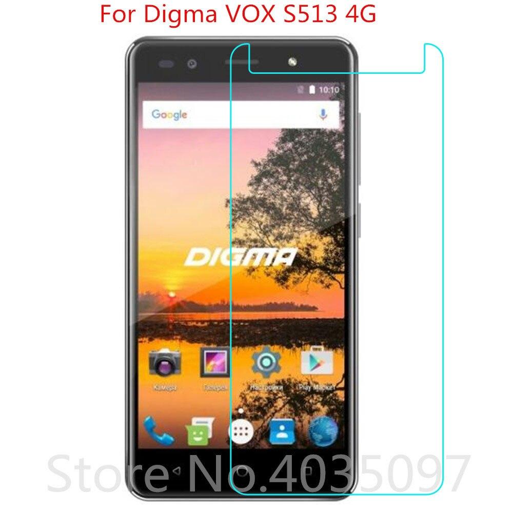 VOX 2 PCS Para Digma S513 4G Vidro Temperado Vidro De Proteção Filme à prova de Explosão-Para Digma VOX S513 4G Protetor de Tela