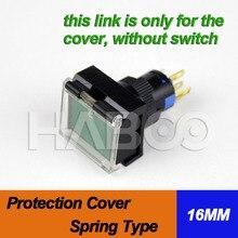Couvercle de protection rectangulaire pour interrupteur   5 pièces, livraison gratuite, type de ressort rectangulaire de 16mm, housse de sécurité pour interrupteur