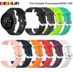Esportes silicone macio substituição pulseira de relógio para garmin forerunner 245 m 245 relógio inteligente pulseira acessórios wearable cinta