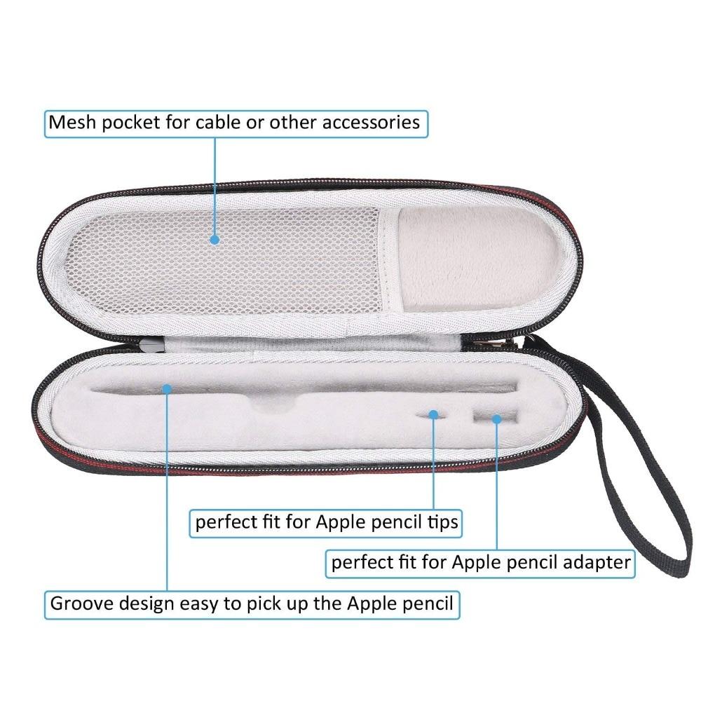 LTGEM Estuche de transporte de viaje de almacenamiento para Apple iPad Pro lápiz/Adaptador duro bolsa funda de transporte bolsa