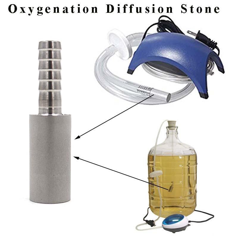 Homebrew oxigenação difusão pedra 0.5 e 2 mícrons aço carbonato de cerveja aeração para cerveja vinho ferramentas barra frete grátis
