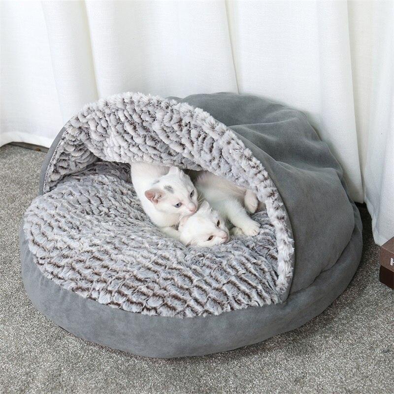 Cama de lujo para perros y mascotas, cama redonda para perros, suave y cálida, antideslizante, cojín lavable para gatos y perros pequeños