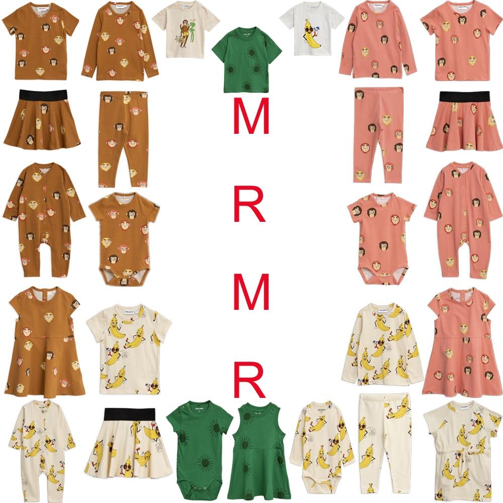 Kids Clothes Set 2019 Spring Summer StRafina MR Boys Girls Top Tee T Shirt Pants Children Monkey Skirt Dress Baby Rompers
