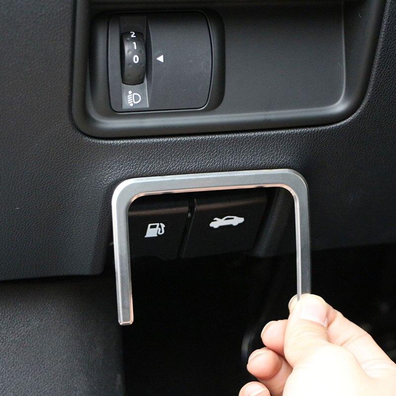 Color My Life de acero inoxidable llave de tanque de combustible para coche embellecedor cubierta de interruptor adhesivo para Renault Koleos 2017 2018 Accesorios