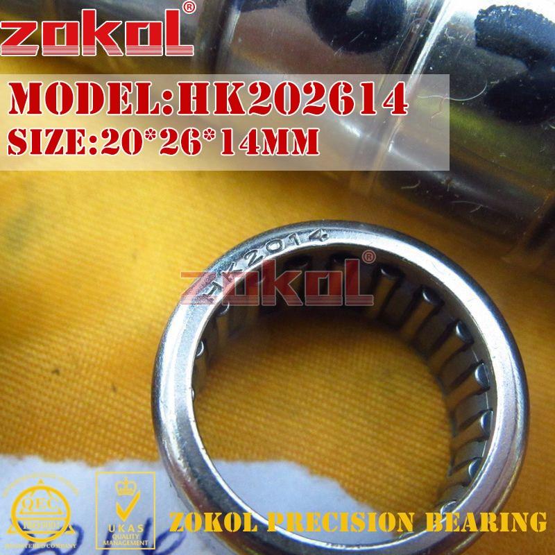 Игольчатый роликовый подшипник zokol HK2010 HK2012 HK2014 HK2016, 20*26*10 20*26*12 20*26*14 20*26*16 мм